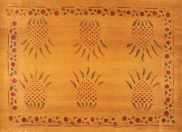 Traditional Stenciled Floor Cloths