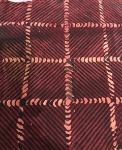 Madder dyed cloth with  print. Credit: Sara Goodman